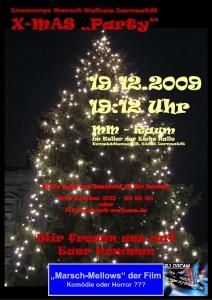 Plakat 2009-12-19 X-Mas Party Marsch-Mellows